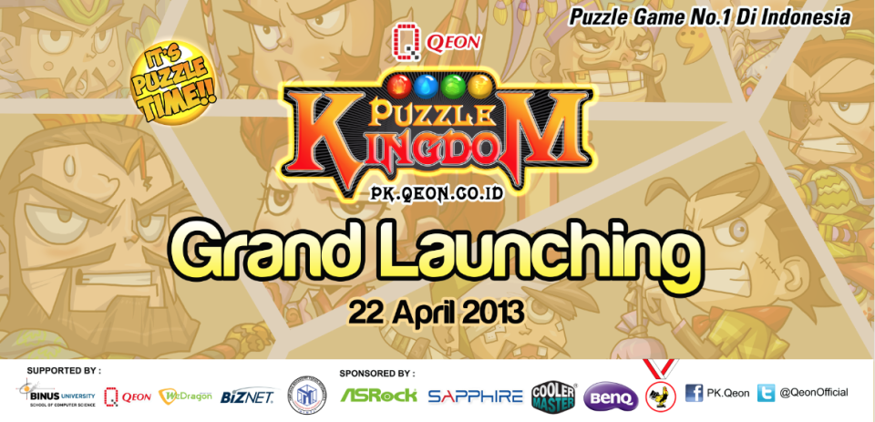 Banner Grand Launching Puzzle Kingdom