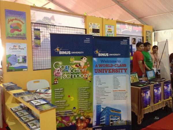 Stand dari Binus University pada PPKD 2013 di Monas