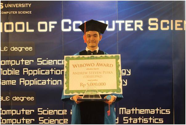 Andrew, Penerima Penghargaan WIBOWO AWARD 2013