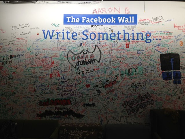 the facebook wall - write something