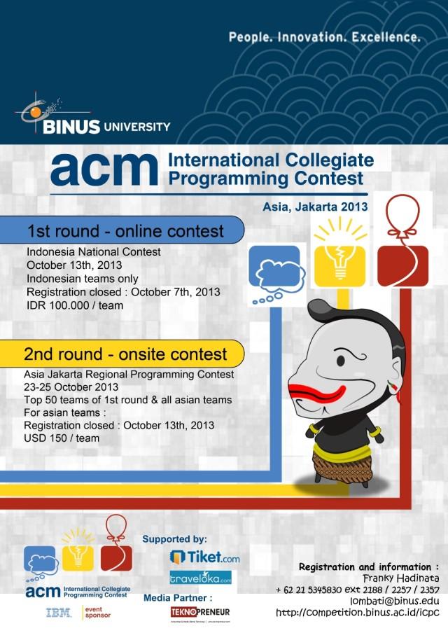 Poster ACM-ICPC 2013