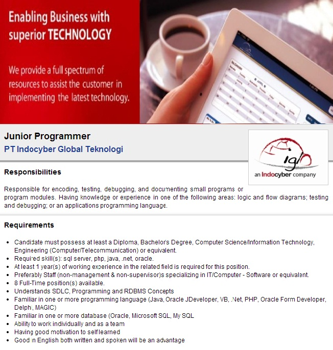 Internship from PT.Appsindo Technology