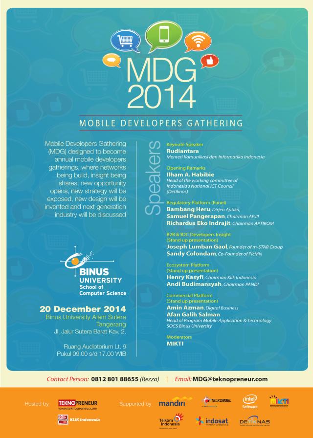 Poster MDG Binus Alam Sutera