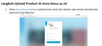 Panduan Upload Product ke Binus Store