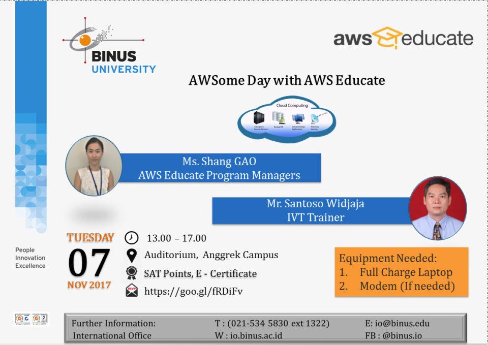 Seminar : AWSome Day With AWS Educate