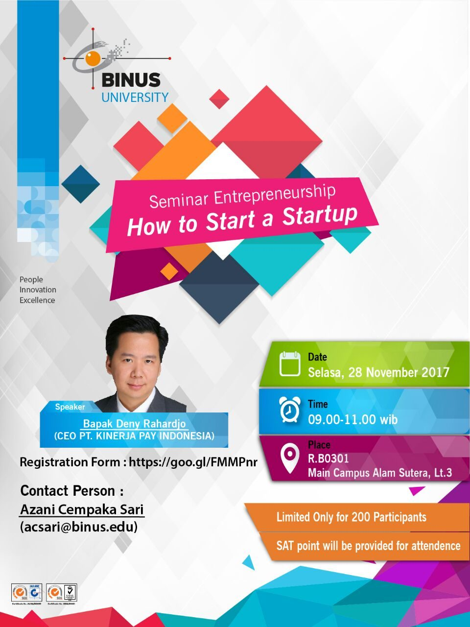 Seminar : How to Start a Startup