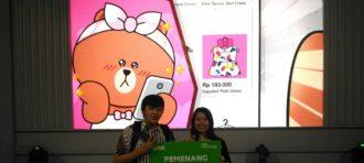 Michele dan Dwi Satria Meraih Juara 3 di Ajang Line Creativate Competition