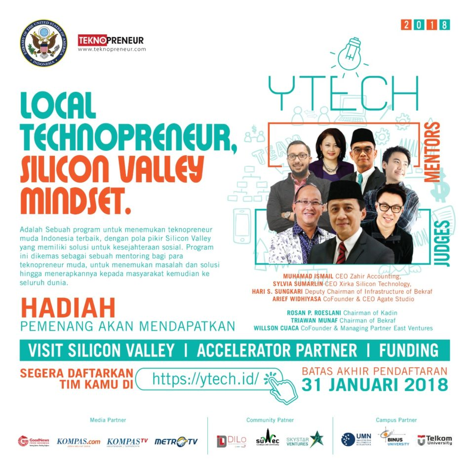YTech – Local Tecnopreneur, Sillicon Valley Mindset