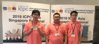 Tim ITBNUS Meraih Honorable Mention pada 2018 ICPC Asia Singapore Regional Contest