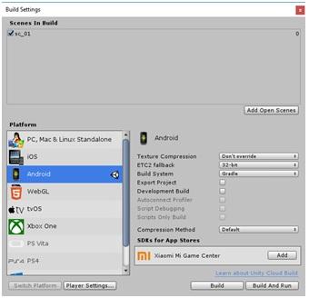 Tutorial Build APK menggunakan Unity 2017.3